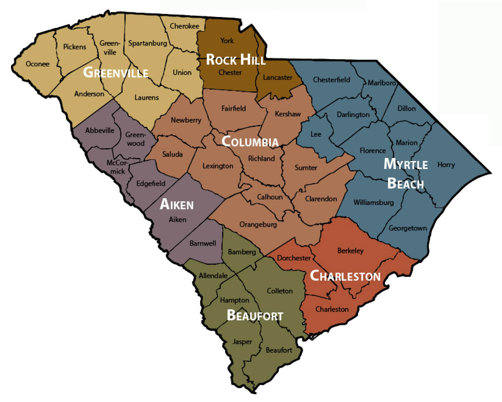 PSCASC Regional Map